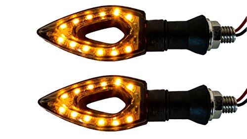 Motorcycle 1 pair OZ-USA Arrow 12 Amber LED Turn Signal Indicator Blinker Dual Sport Motorcycle dirt bike light street fighter zl zr