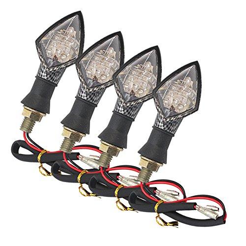 Refaxi 4x F5 10 LED 1W Motorcycle Motorbike Turn Signal Indicator Lamp Yellow Light
