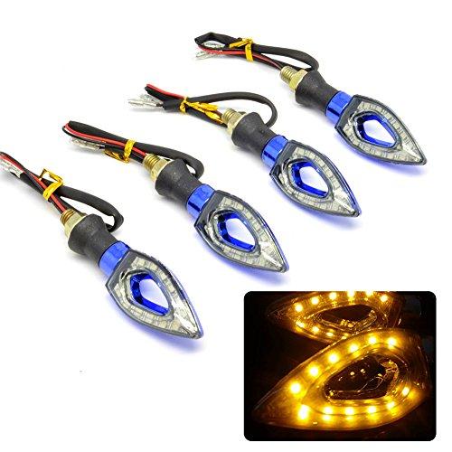 Sedeta 4pcs 12LED Mini Motorcycle Motorbike Turn Signal Indicators SMD Amber Light