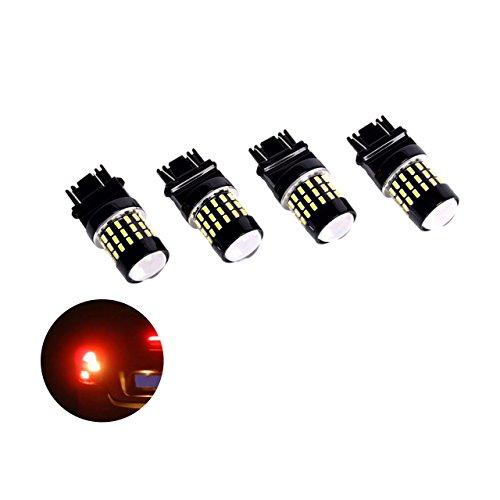 Eyourlife 4Pcs Led Brake Light BulbsExtremely Bright PX 3157-3014-T10 LED Bulb For Brake Light Tail lights Signal White