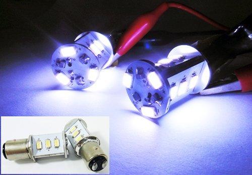 LEDIN 1157 SAMSUNG 12 SMD LED Brake Light 2357 7528 BAY15d White 7000K