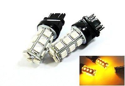 LEDIN 2x Amber High Power 18 SMD LED Brake Light 3157 3156 3457 4157