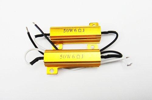 LEDIN 2x LED Brake Light bulb Load Resistor 3156 3157 7443 7440 1157 1156 Fix Error Flash