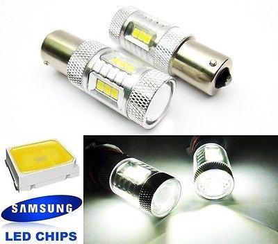 LEDIN 2x SAMSUNG 15 SMD 1156 Projector LED Brake Light Bulb 7506 P21W BA15s