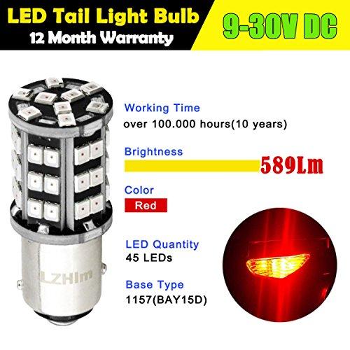 LZHlm 1157 2057 2357 7528 BAY15D Led Bulb 2 pack for Brake Backup Light Parking LightBest Quality of Long life100000hrs