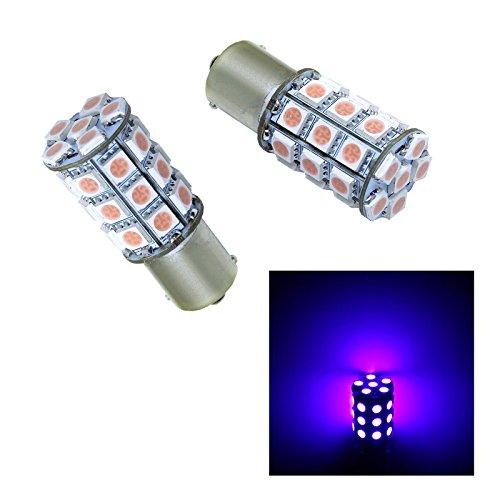 PA 2pcs Ba15s 1156 30 SMD LED AUTO Turn Signal Light Side Marker LightBrake Light Bulbs 12V-Pink Purple
