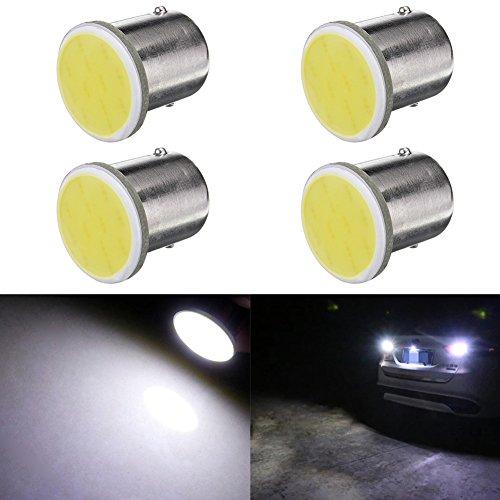 TABEN S25 1157 BAY15D 7528 1016 1034 COB Chips 12SMD LED White 8000K Car Stop Tail Turn Brake Light Bulb Lamp 12V 4-Pack