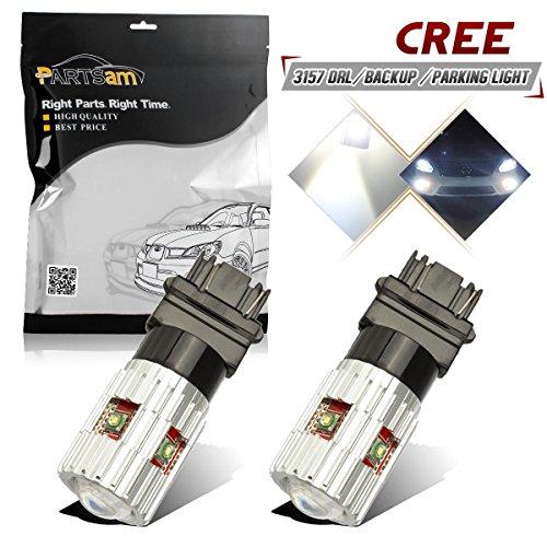 Pack of 2Partsam 1900 Lumens High Power Canbus 3056 3156 3057 3157 4157 LED Bulbs Xenon White with Projector for Back Up Reverse LightsBrake LightsTail Light