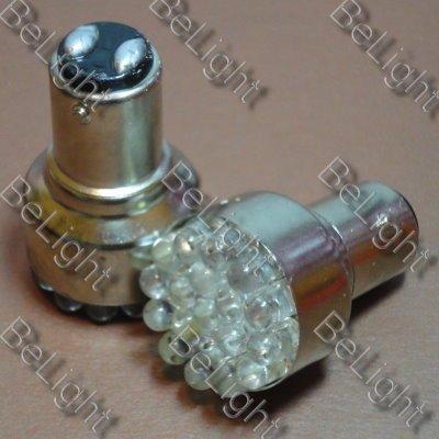 2 X White 1157 19-LED Car Light Tail Brake Bulbs