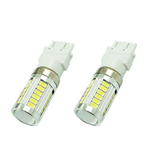 LEDHOLYT 2pcs 25W White 3157 LED Brake Bulb Car Light 3057 3457 4157 3047 Dual Function Turn Signal Front rear Backup High Power
