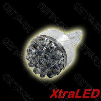 Pair of 12v 19 LED Car Light Turn Tail Brake Bulbs 3156 - White