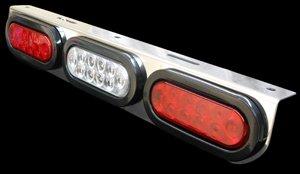 3 Hole Oval Light Panel LED Red Brake Light Backup