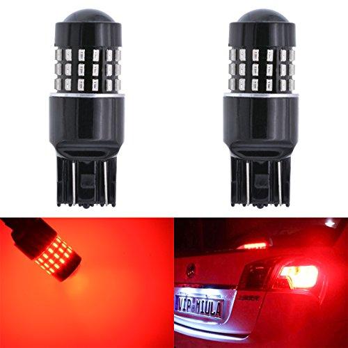 KATUR Super Red 800 Lumens 7440 7443 7444NA 7441 7444 992 3014 54SMD Led Light Bulb Back Up Reverse Brake Tail Light Lamp Red DC 12V-24V 31W 2-Pack