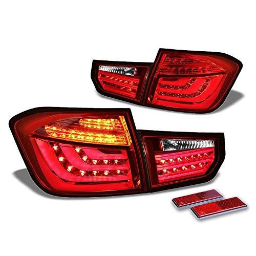 Chrome Housing ClearRed Lens 3D LED Rear Tail Light For BMW 12-13 320i13 320i xDrive14-15 328d BasexDrive Base12-15 328i13-15 328i xDrive12-15 335i13-15 335i xDrive