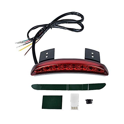 RED Chopped Fender Edge Brake LED Rear Tail Light Integrated Amber Turn Signal for 2008-2013 Harley Sportster XL 883 1200