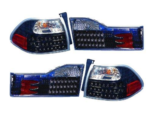 Depo Honda Accord Sedan 01 02 Led Black Tail Light Pair