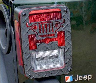 Jeep Tweaks Black Tail Light Guards Jeep Wrangler JK 2007-2014