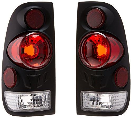 Spec-D Tuning LT-F150973DJM-TM Ford F150 F250 F350 3D Style Side Black Tail Lights