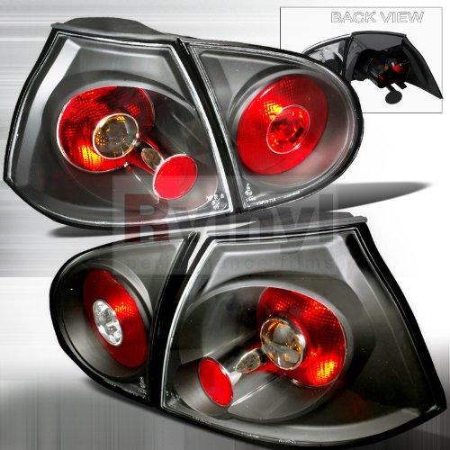 Spec-D Tuning LT-GLF05JM-TM Volkswagon Golf Gl Gls Gti Hatchback Black Tail Lights