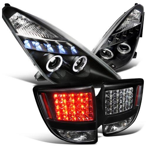 Toyota Celica Black Halo Led Projector Headlights  Led Black Tail Lights