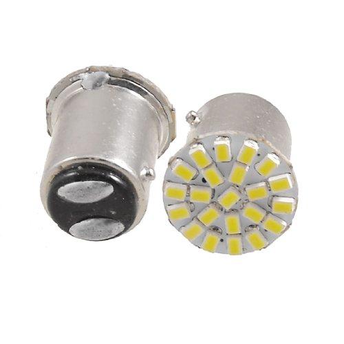 2 Pcs 1157 BAY15D White 3020 SMD 22 LEDs Car Turn Brake Stop Light Lamp Bulb
