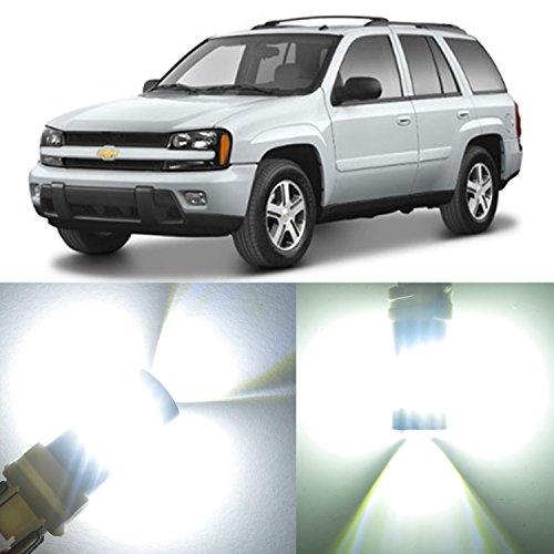 Alla Lighting 2pcs Super Bright 3157KX 3757AK 6000K White LED Bulbs for Front Rear Turn Signal Blinker Back-Up Reverse Brake Stop Light Lamp for 2002~ 2008 2009 Chevrolet Trailblazer  Trailblazer EXT