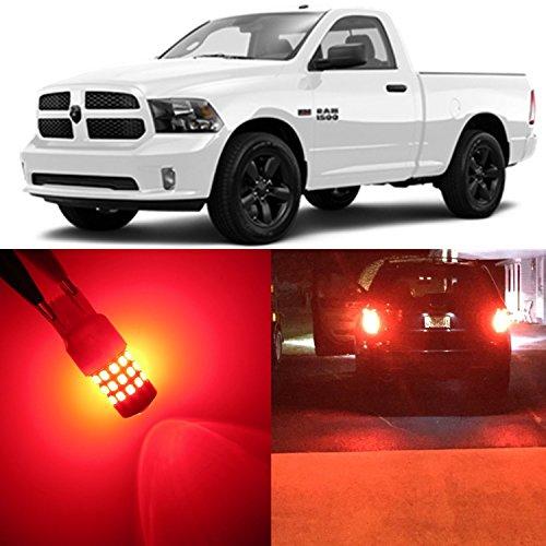 Alla Lighting 2x Super Bright 3157NA 3157K 3057 Red LED Bulbs for Front Rear Turn Signal Blinker Brake Stop Light Lamps for 2003 ~ 2010 2011 2012 2013 2014 2015 2016 2017 Dodge Ram 1500 2500 3500