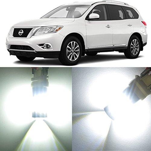 Alla Lighting 2x Super Bright 6000K White 3156AK 3457K 3457AK LED Bulbs for Front Rear Turn Signal Blinker Brake Tail Stop Light Lamps for 2005 2006 2007 Nissan Pathfinder  2004 Armada SE LE