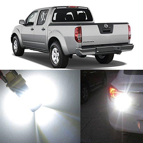 Alla Lighting 2x Super Bright 6000K White 3157KX 3156 3457NAK LED Bulbs for Front Rear Turn Signal Blinker Brake Tail Stop Light Lamps for 2001 2002 2003 2004 2005 2006 2007 2008 Nissan Frontier