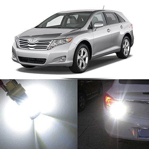 Alla Lighting 2x Super Bright 6000K White 7443 7440A 7443LL 7440 LED Bulbs for Rear Turn Signal Blinker Brake Stop Light Lamps for 2009 2010 2011 2012 2013 2014 2015 2016 Toyota Venza