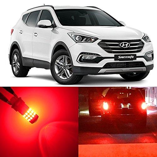 Alla Lighting 2x Super Bright Red 1157 2357 LED Bulbs for Brake Stop Tail Light Lamps for 2001 ~ 2004 2005 2006 2007 2008 2009 2010 2011 2012 2013 2014 2015 2016 2017 Hyundai Santa Fe  Santa Fe XL