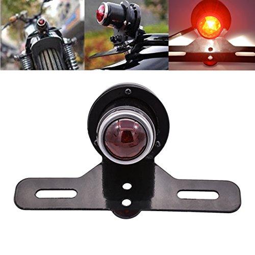 KaTur Motorcycle License Plate Holder Brake Light Tail Stop Light Lamp For Harley Chopper Cruiser Racer Bobber Cafe Custom