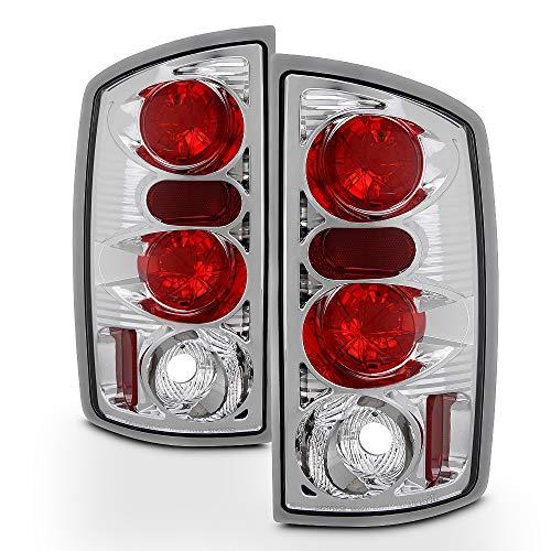 ACANII - For 2002-2006 Dodge Ram 1500 03-06 Ram 2500 3500 Chrome Tail Lights Brake Lamps Pair Set Driver Passenger