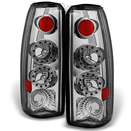 For Chevy CK 1500 Models C10 GMC Sierra Yukon Pickup Truck LED Chrome Tail Light Relacement Pair Set