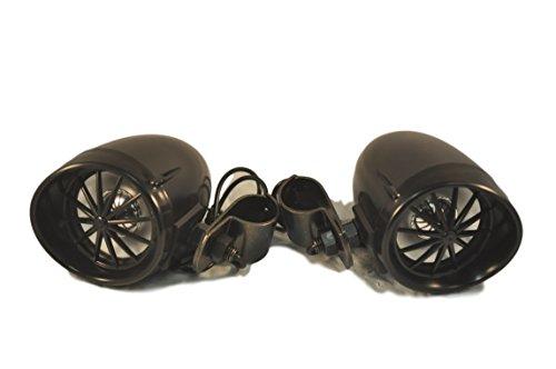 Shark Shkspeakerharley 100 Watt 3 Harley Motorcycle Marine Speakers with Handlebar Clamps Black