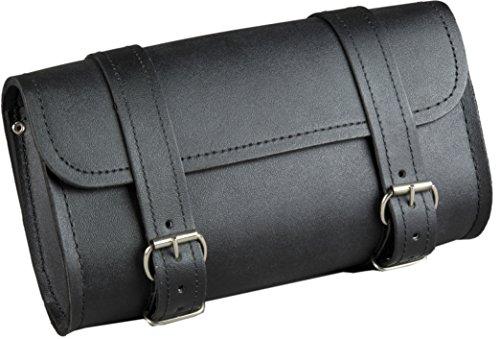 Fuel Helmets SH-BARBAG Handlebar Bag with Leather Shell Black