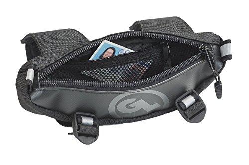 Giant Loop ZHB-BLACK Zigzag Handlebar Bag - 15 Liter Capacity Black