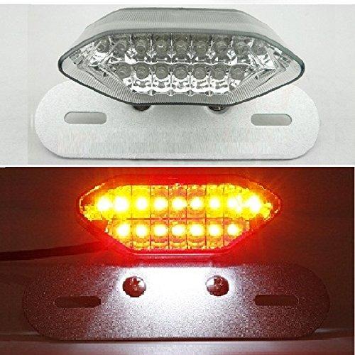 Motorcycle Fender Eliminator Led Rear Tail Light 5 Function Running Light Brake Light Turn Signal Light License Plate Light All In 1 Integrated