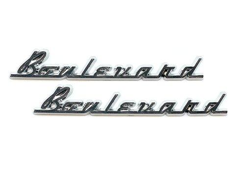 Motorcycle FenderSaddlebag Emblems Boulevard Emblem Pair