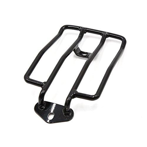 uxcell Motorcycle Fender Rear Luggage Rack Carrier Shelf Black for Harley-Davidson