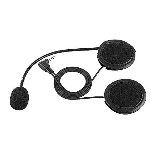 Qiilu Accessories Bluetooth Headset Headphone Microphone For V4V6 Motorcycle Helmet Intercom