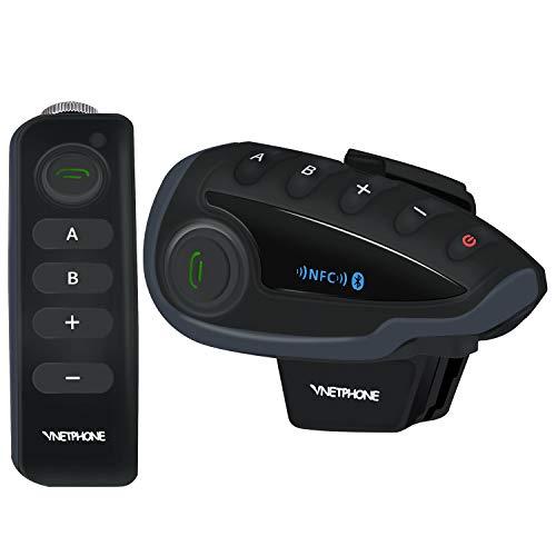 Walkie Talkies Intercom Motorcycle 5 Riders Bluetooth Communication System Helmet Walkie Talkie NFC Remote Control Wireless Intercom System