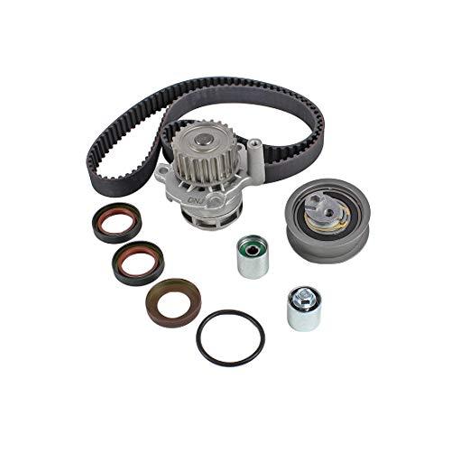 DNJ TBK802WP Timing Belt Kit with Water Pump for 2005-2015  Audi Volkswagen  A3 A4 A4 Quattro Eos GTI Jetta Passat TT TT Quattro  20L  DOHC  L4  16V  121cid  BPG BPY BWT CDMA