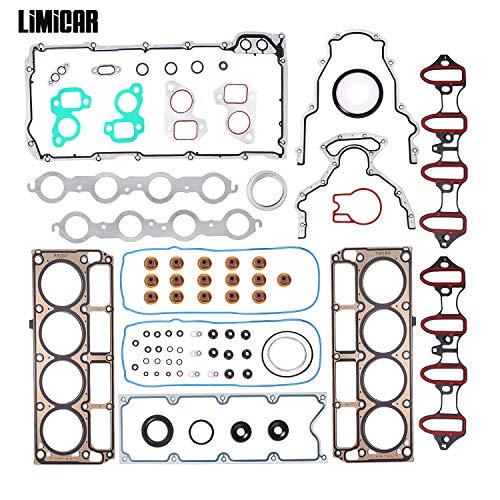 LIMICAR Cylinder Head Gasket Full Set Compatible with 2002 2003 2004 2005 2006 2007 2008 2009 2010 2011 Chevrolet Silverado Tahoe GMC Yukon Envoy Buick Cadillac 48L 53L