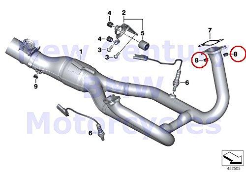 2 x BMW Genuine Motorcycle Exhaust Manifold Securing Nut M8 R1200GS R1200GS Adventure R1200RT R1200R