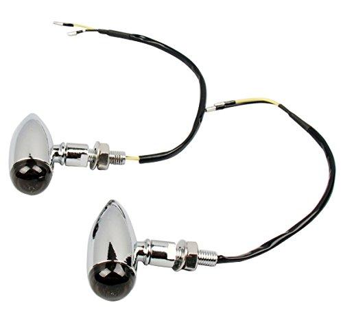 2pcs Chrome Bullet turn signal Lights Indicator lights for 2004 Harley-Davidson Softail Deuce FXSTD