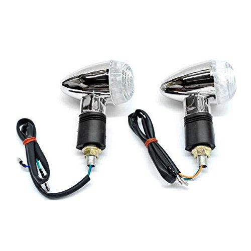 Krator Motorcycle 2 pcs Clear Bullet Turn Signals Lights For Yamaha V-Star Vstar 950 1100 1300 Classic Stryker