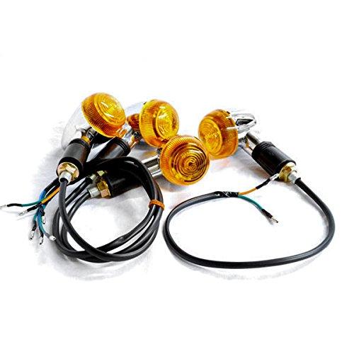 Krator Motorcycle 4 pcs Amber Bullet Turn Signals Lights For Harley Davidson 125 175 250 350 750 1000