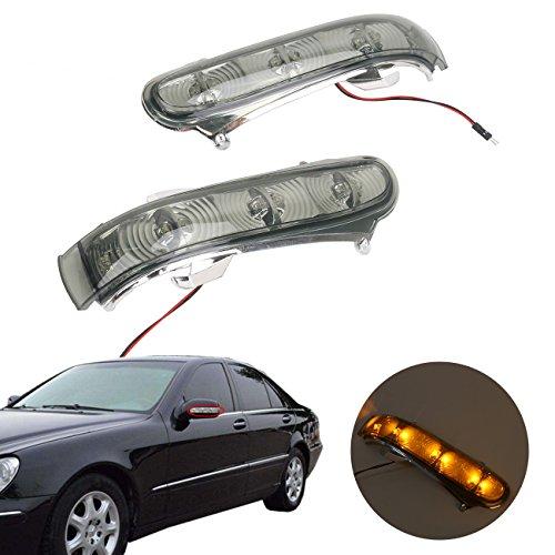 Kawayee LED Side Mirror Turn Signal Light for Mercedes W220 W215 CL600 S430 500 1999-2003