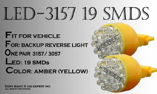 Tutti Racing 3156 3056 3356 3456 3057 3457 4157 YELLOW Direct Replace 19smd LED REAR TURN SIGNAL BULBS